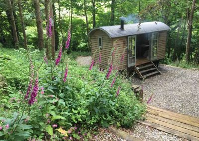 Adrian Herring's Man Cave designed by Blackdown Shepherd Huts