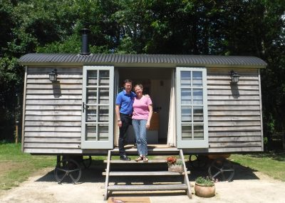 Glamping at Stanley Hut in Somerset