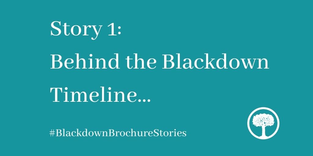 Blackdown Brochure Stories, 1: Behind the Blackdown Timeline